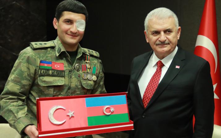 Azerbaycanlı gaziden Başbakan Yıldırım'a Afrin mesajı