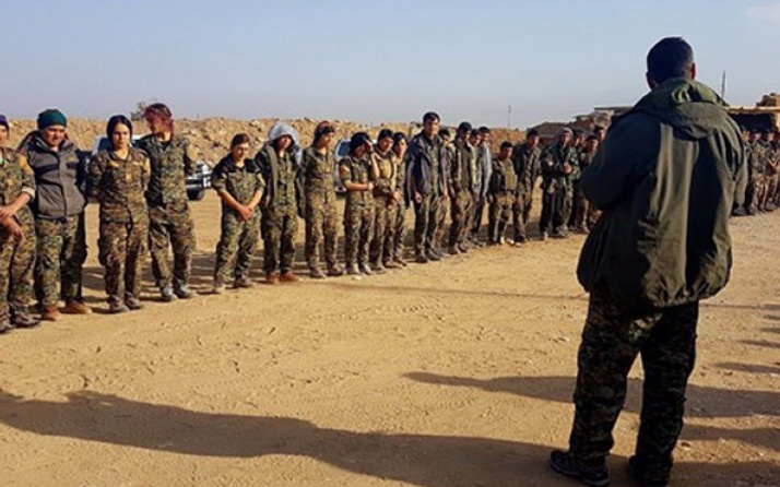 Sincar'dan şok görüntüler! PKK'lılar tek sıra olup...