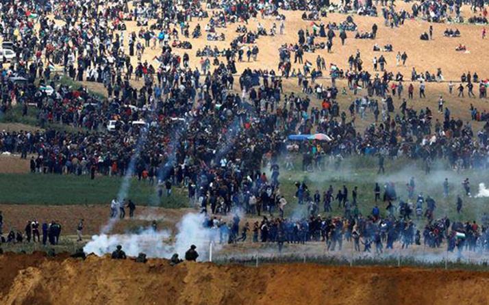 İsrail askeri Filistinlere saldırdı! Can kaybı artıyor 500 yaralı var
