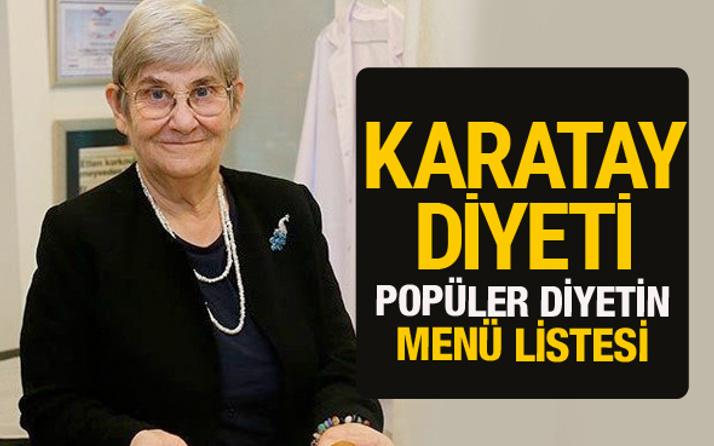 Canan Karatay diyeti kaç kilo verdiriyor kitabındaki diyet listesi