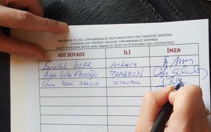 Erdoğan'ın adaylığı için dilekçe imzaya açıldı