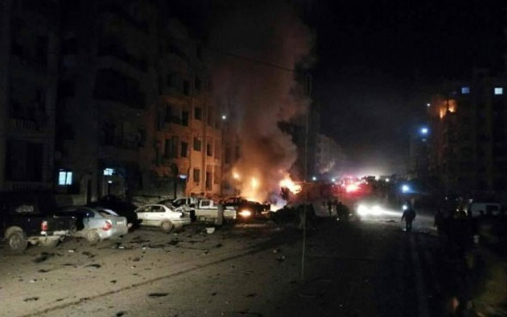 İdlib'de büyük patlama! Çok sayıda ölü var!