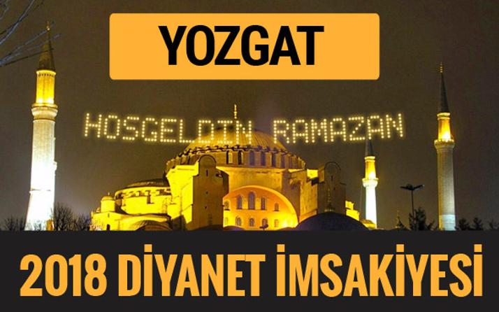 2018 İmsakiye Yozgat- Sahur imsak vakti iftar ezan saatleri
