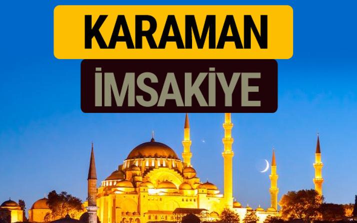Karaman İmsakiye 2018 iftar sahur imsak vakti ezan saati
