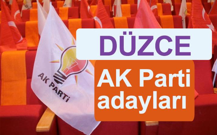 AK Parti Düzce milletvekili adayları kimler 2018 listesi