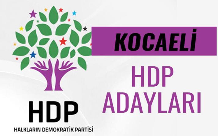 HDP Kocaeli milletvekili adayları 27. dönem listesi