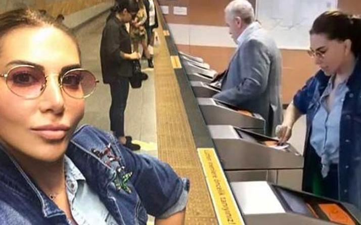 Toplu taşımada ünlü var! Herkesi metroya binmeye davet etti