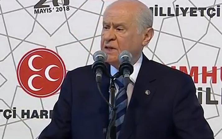 MHP seçim beyannamesi Devlet Bahçeli açıkladı