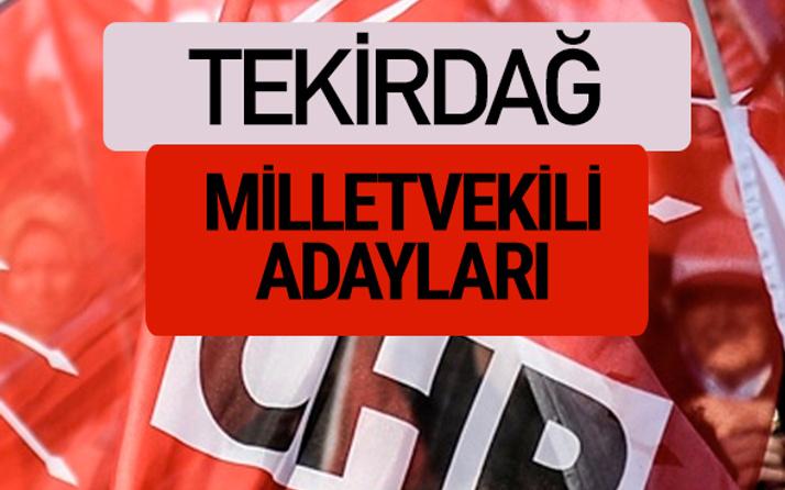 CHP Tekirdağ milletvekili adayları isimleri YSK kesin listesi