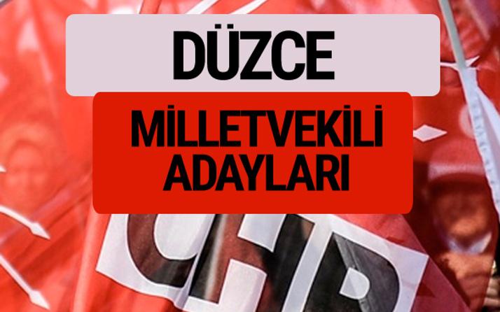 CHP Düzce milletvekili adayları isimleri YSK kesin listesi