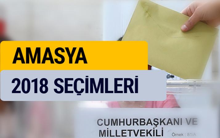 2018 seçim sonuçları YSK Amasya sonucu