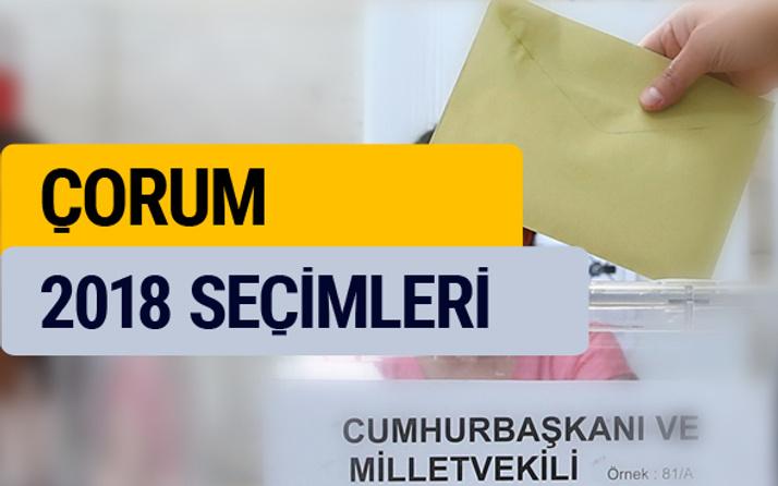 2018 seçim sonuçları Çorum YSK oy sonucu