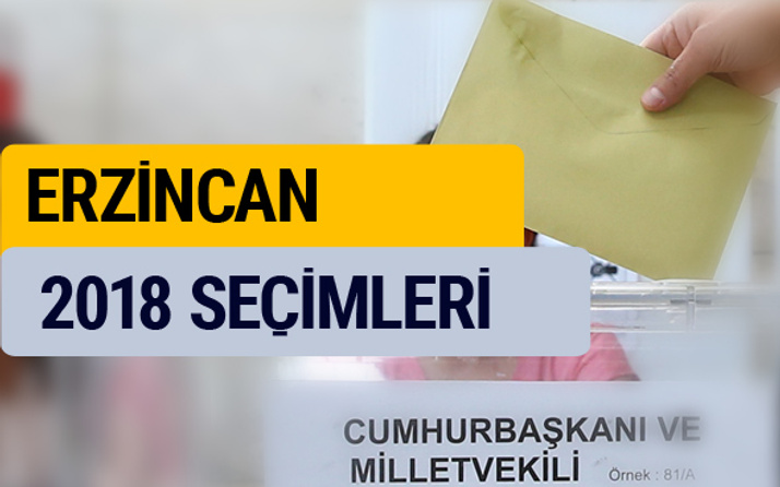 Erzincan seçim sonucu 2018 YSK oy oranları