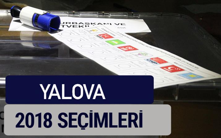Yalova oy oranları partilerin ittifak oy sonuçları 2018 - Yalova
