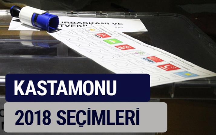 Kastamonu oy oranları partilerin ittifak oy sonuçları 2018 - Kastamonu