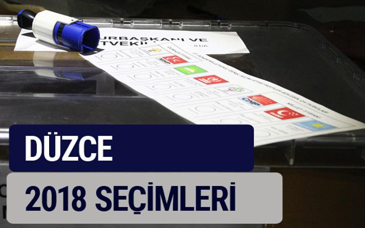 Düzce oy oranları partilerin ittifak oy sonuçları 2018 - Düzce