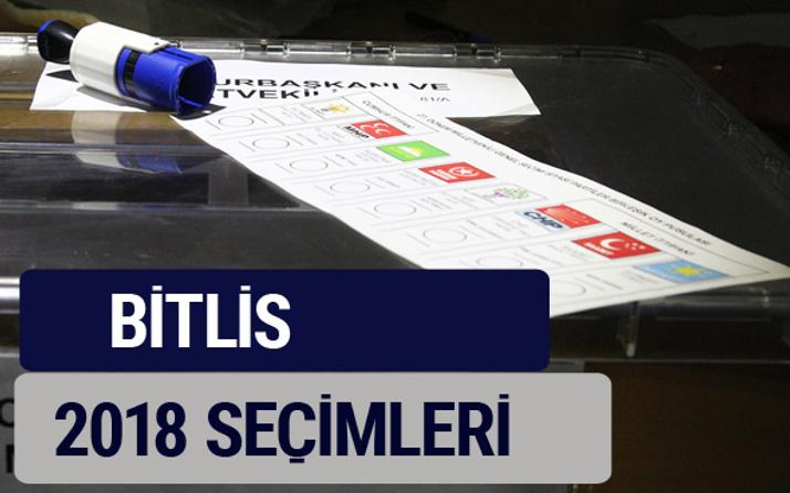 Bitlis oy oranları partilerin ittifak oy sonuçları 2018 - Bitlis