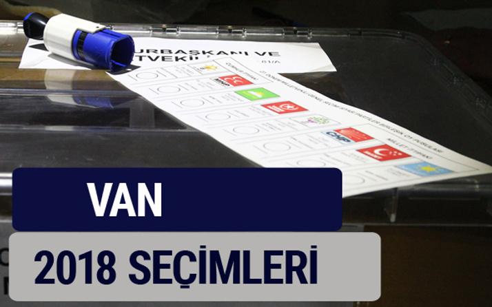 Van oy oranları partilerin ittifak oy sonuçları 2018 - Van