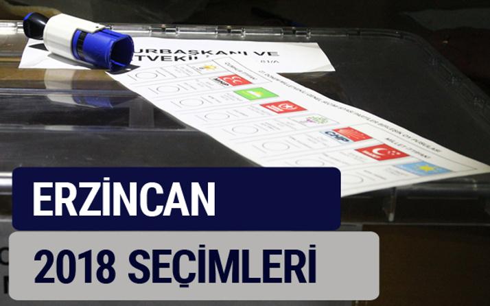 Erzincan oy oranları partilerin ittifak oy sonuçları 2018 - Erzincan