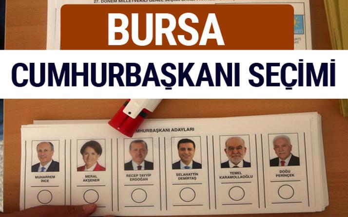 Bursa Cumhurbaşkanları oy oranları YSK Sandık sonuçları