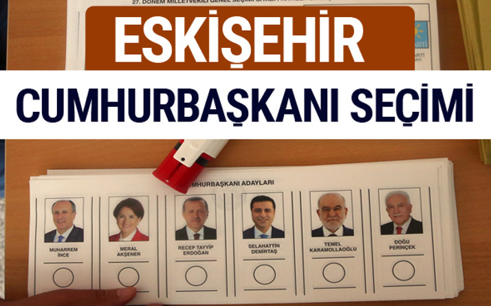Eskişehir Cumhurbaşkanları oy oranları YSK Sandık sonuçları