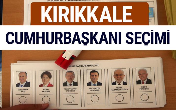 Kırıkkale Cumhurbaşkanları oy oranları YSK Sandık sonuçları