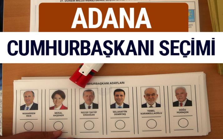 Adana Cumhurbaşkanları oy oranları YSK Sandık sonuçları