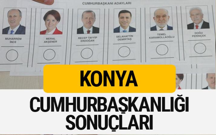 Konya Cumhurbaşkanlığı seçim sonucu 2018 Konya sonuçları
