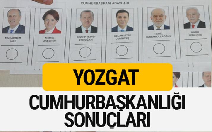 Yozgat Cumhurbaşkanlığı seçim sonucu 2018 Yozgat sonuçları