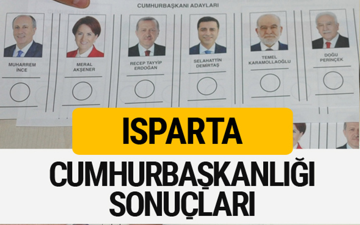 Isparta Cumhurbaşkanlığı seçim sonucu 2018 Isparta sonuçları
