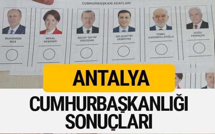 Antalya Cumhurbaşkanlığı seçim sonucu 2018 Antalya sonuçları