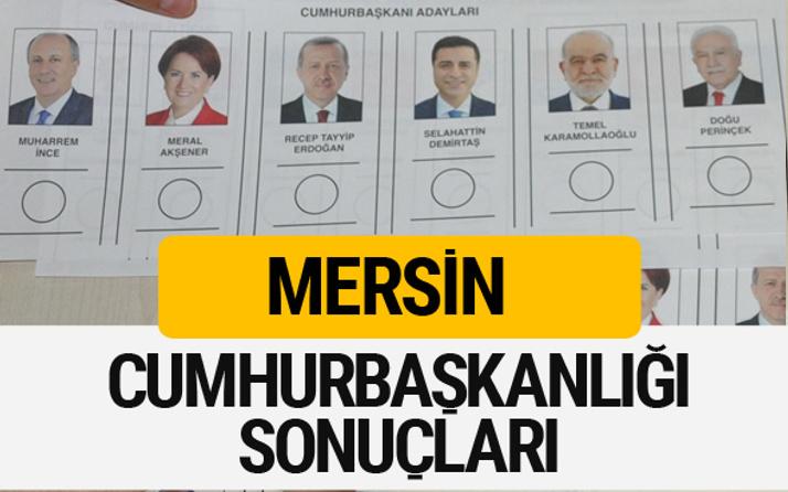 Mersin Cumhurbaşkanlığı seçim sonucu 2018 Mersin sonuçları