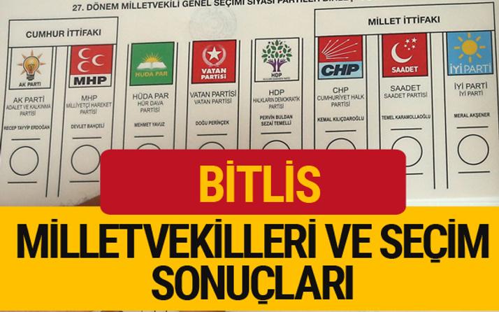 Bitlis Milletvekilleri 27. dönem 2018 Bitlis Seçim Sonucu