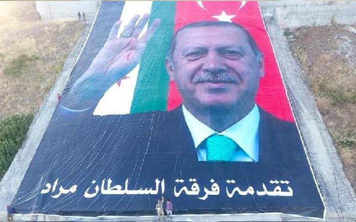 Öcalan fotoğrafı imha edildi Erdoğan'ın posteri yerleştirildi
