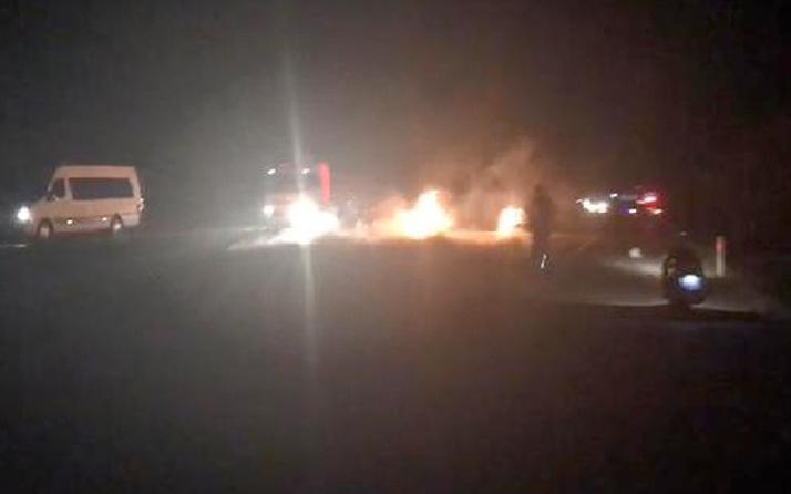 Bursa'da çarpışan iki motosiklet alev aldı: 3 ölü, 1 yaralı
