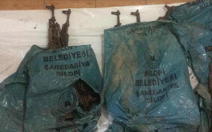 Şırnak'ta toprağa gömülü bulundu! logoya dikkat