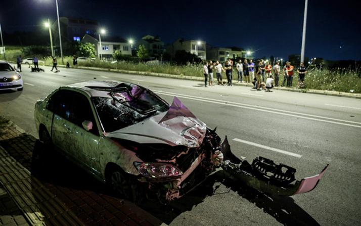 İki motosikletli genç alkollü sürücünün kurbanı oldu