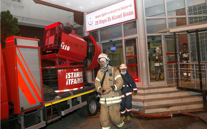 İstanbul Haseki Hastanesi ek hizmet binasında yangın