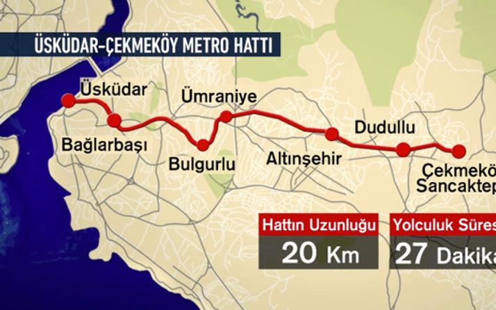 Üsküdar-Çekmeköy metrosu hakkında önemli açıklama