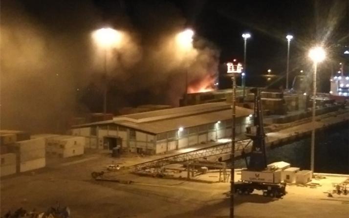 Bandırma'da limanda yangın