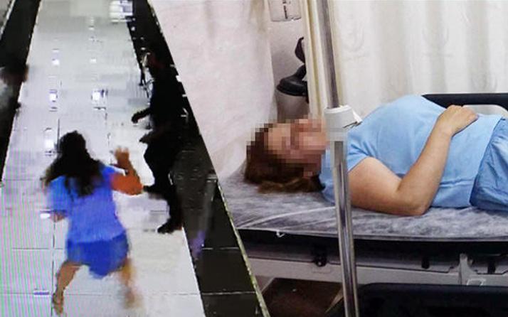 Polisin elinden kaçıp katibin saç derisini kopardı