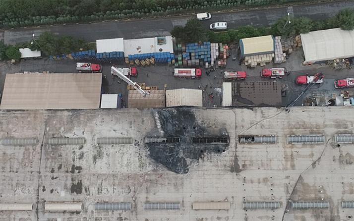 Tuzla'da aku fabrikasında yangın