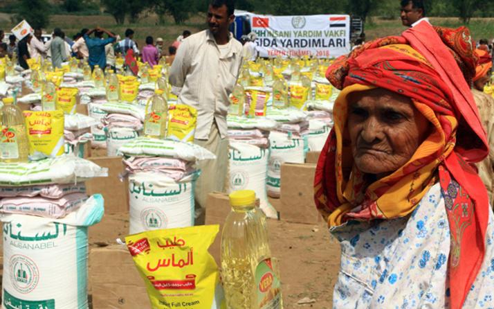 2018'de 345 bin Yemenli'ye acil yardım
