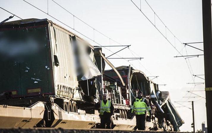 Danimarka'da tren faciası onlarca ölü ve yaralı var