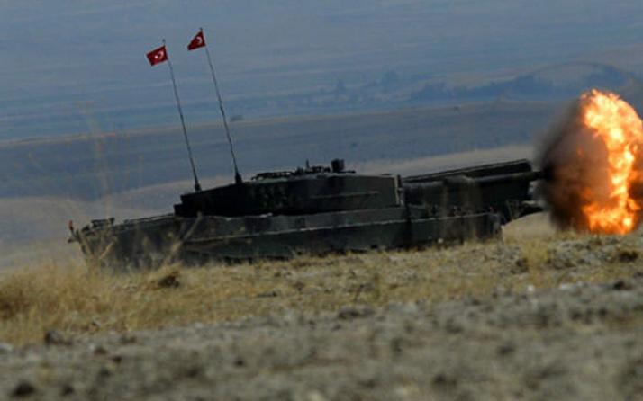TSK Obüsleri Afrin'deki terör mevzilerini vurdu