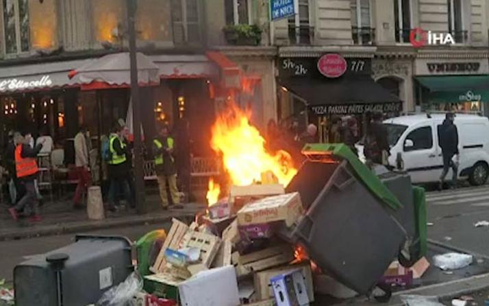 """Fransa'da """"sarı yelekli"""" 216 kişi tutuklandı"""