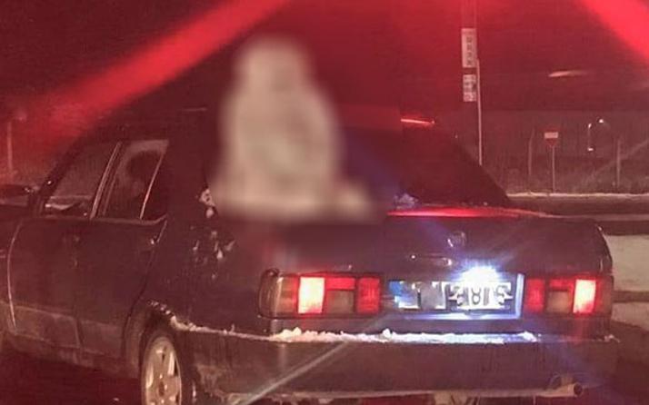 Tekirdağ'da bir garip olay! Arabadaki detayı görenler hemen telefona sarıldı