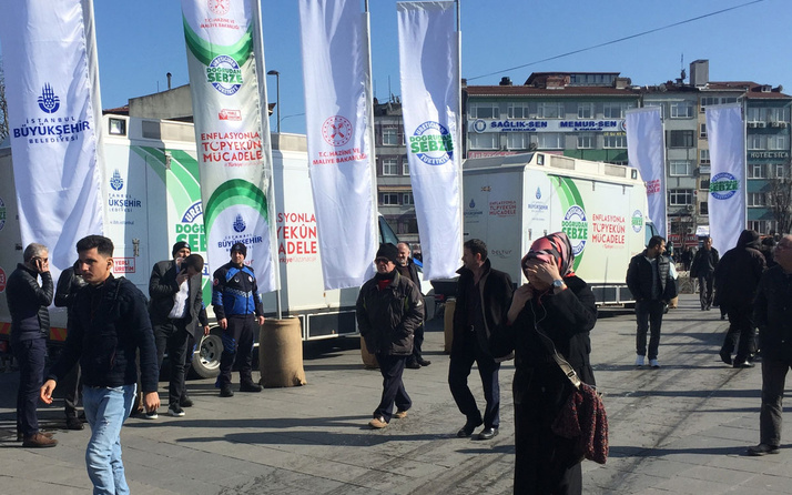İstanbul'da halk sebze satışı 50 noktada sadece bu 7 ürün satılıyor
