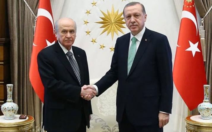 Erdoğan ve Bahçeli Beştepe'de bir araya geldi!