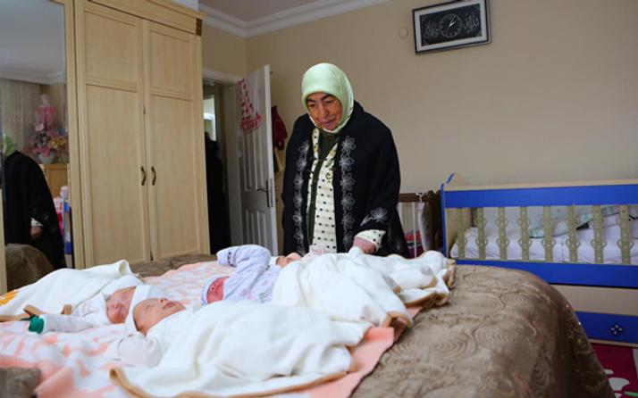 Yıldırım'ın eşi Semiha Yıldırım Türkiye'nin beşizlerini ziyaret etti